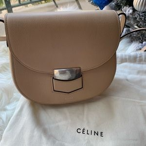 Celine Small Trotteur bag in Powder